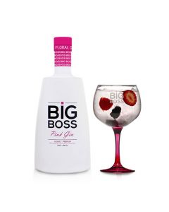 Gin Big Boss Pink Floral Premi 70 Cl + 1 Copo CX